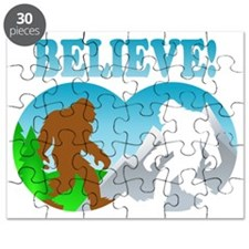 Sasquatch Yeti Match Up Puzzle