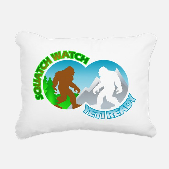Sasquatch Yeti Match Up Rectangular Canvas Pillow