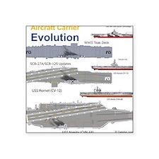 "USS Nimitz CVN-68 USS Honet Square Sticker 3"" x 3"""