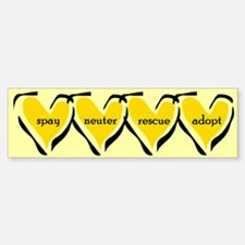 Spay Neuter Rescue Adopt Yellow Bumper Bumper Bumper Sticker