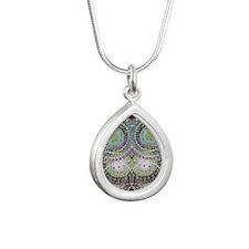 Groovy Summer Love Silver Teardrop Necklace