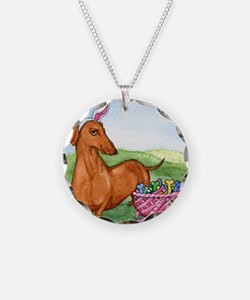 Funny Easter Dachshund Necklace