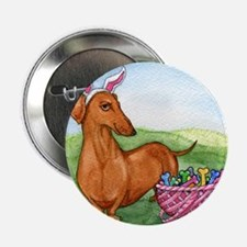 "Funny Easter Dachshund 2.25"" Button"