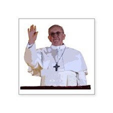"Pope Francis I Square Sticker 3"" x 3"""