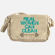 Real Women Can Clean (Light Blue) Messenger Bag