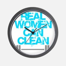 Real Women Can Clean (Light Blue) Wall Clock