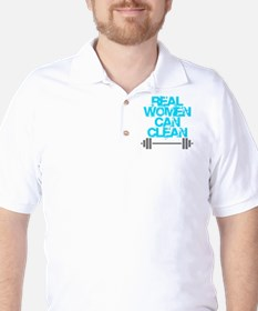 Real Women Can Clean (Light Blue) Golf Shirt