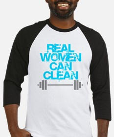 Real Women Can Clean (Light Blue) Baseball Jersey