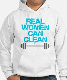 Real Women Can Clean (Light Blue Hoodie
