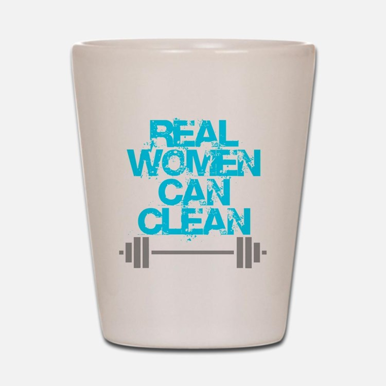 Real Women Can Clean (Light Blue) Shot Glass