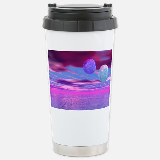 Love Birds - Pink and P Stainless Steel Travel Mug
