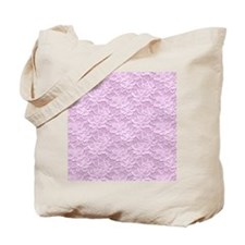 Romantic Lace African Violet Tote Bag