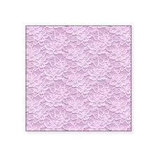 "Romantic Lace African Viole Square Sticker 3"" x 3"""