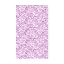 Romantic Lace African Violet Rectangle Car Magnet