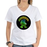 Big foot Womens V-Neck T-shirts