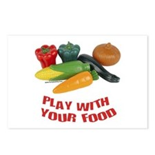 Play With Your Food Postcards (Package of 8)