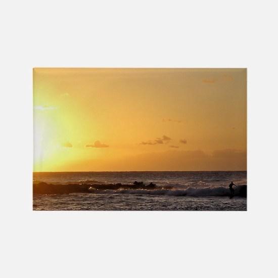 Molokai Surf Rectangle Magnet