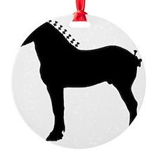 Percheron Stallion Ornament