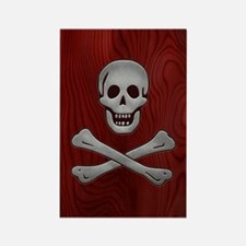 steelwood-pirate-OV Rectangle Magnet