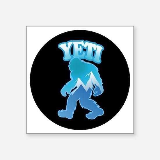 """Yeti Mountain Scene Square Sticker 3"""" x 3"""""""