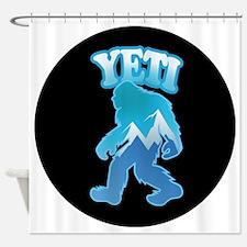 Yeti Mountain Scene Shower Curtain