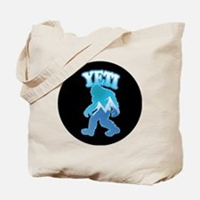 Yeti Mountain Scene Tote Bag