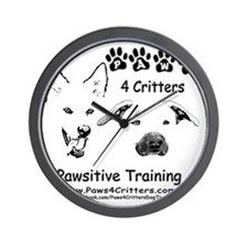 Paws4Critters Pawsitive Dog Training Wall Clock