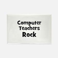 Computer Teachers Rock Rectangle Magnet