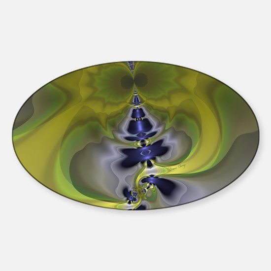Green Goblin Large Serving Tray-348 Sticker (Oval)