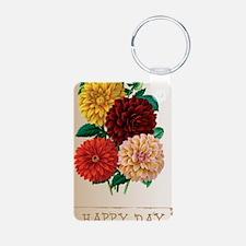 Happy Day Dahlias Keychains