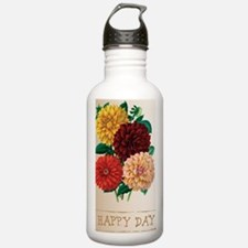 Happy Day Dahlias Water Bottle