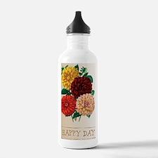 Happy Day Dahlias Water Bottle