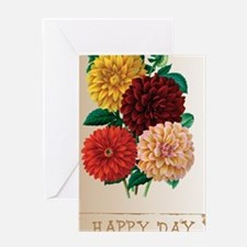 Happy Day Dahlias Greeting Card