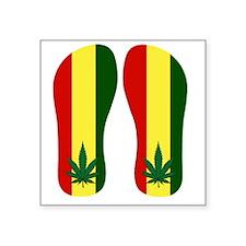 "Marijuana Leaf Square Sticker 3"" x 3"""