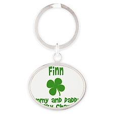 finn charm Oval Keychain