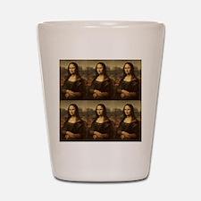 Vintage Mona Lisa Shot Glass