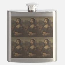 Vintage Mona Lisa Flask