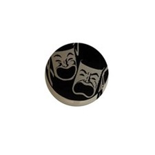 Comedy and Tragedy Mini Button