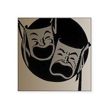 "Comedy and Tragedy Square Sticker 3"" x 3"""