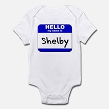 hello my name is shelby  Onesie