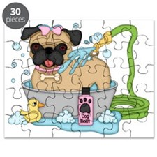 Cute Pug Dog Bath Time Puzzle
