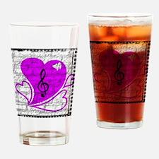 Heartbreak notes logo Drinking Glass