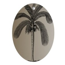 Golden Palm Tree Oval Ornament