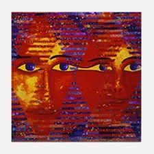 Conundrum III Abstract Goddess Tile Coaster