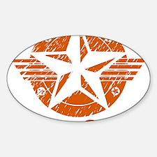 utica_shale_pro_fracking_orange Sticker (Oval)