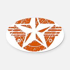 utica_shale_pro_fracking_orange Oval Car Magnet