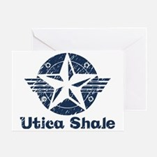 utica_shale_pro_fracking_navy Greeting Card
