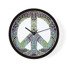 Groovy Summer Peace Wall Clock