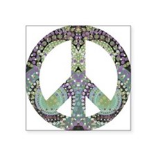 "Groovy Summer Peace Square Sticker 3"" x 3"""