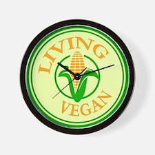 Living Vegan Wall Clock